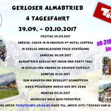 INFO: Almabtrieb Gerlos im September 2017