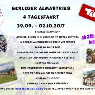 Almabtrieb im Zillertal in Gerlos 29.09. – 02.10.2017 !!! SICHERT EUCH DIE LETZT…