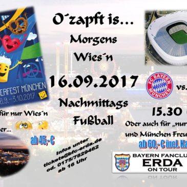FC Bayern – FSV Mainz mit Oktoberfest