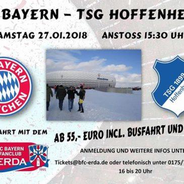 Am Samstag, 27. Januar gehts zum Heimspiel gegen die TSG Hoffenheim. Diese Fahrt…