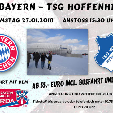 INFO: FC Bayern – TSG Hoffenheim 27.01.2018